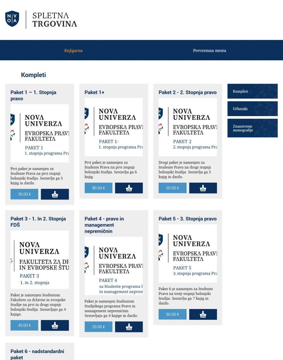 Spletna knjigarna Nove univerze